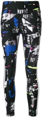 DKNY abstract printed leggings