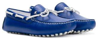 Stefano Ricci Kids bow front driving moccasins