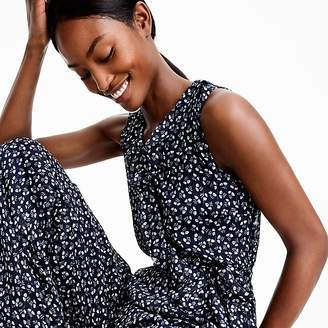 J.Crew Petite Point Sur sparkle jumpsuit in indigo floral