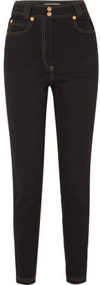 Versace High-rise Skinny Jeans - Black