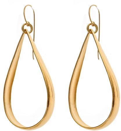 Rebecca Norman Gold Teardrop Earrings