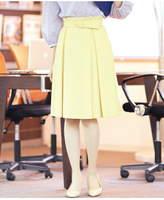 Clear Impression (クリア インプレッション) - CLEAR IMPRESSION ベルト付きタックフレアスカート クリアインプレッション スカート*