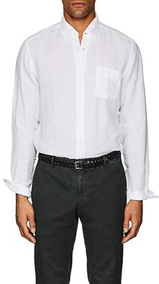 Hartford MEN'S LINEN BUTTON-DOWN SHIRT - WHITE SIZE XXL