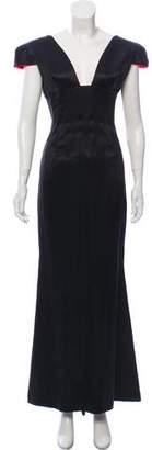 Richard Tyler Satin Evening Gown