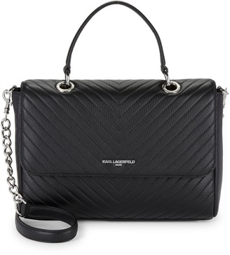 Karl Lagerfeld Paris Quilted Leather Satchel