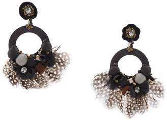 Ranjana Khan feather embellished earrings