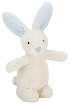 Jellycat Bobtail Bunny Rattle, One Size, Cream/Blue