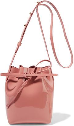 Mansur Gavriel - Mini Mini Patent-leather Bucket Bag - Blush $345 thestylecure.com