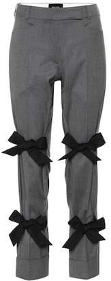 Simone Rocha Bow-trimmed stretch wool pants