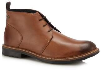 Base London Tan Leather 'Tully' Chukka Boots