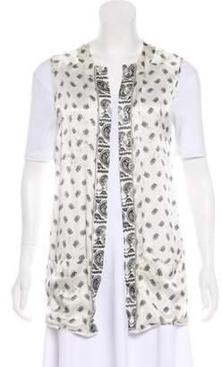 Pierre Balmain Paisley Print Silk Vest