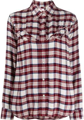 Levi's plaid print shirt