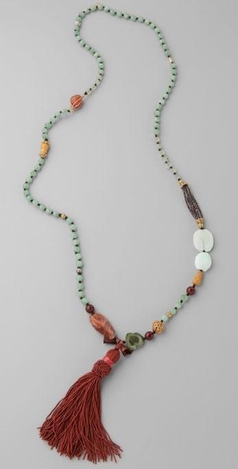 Lee Angel Jewelry Solange Long Tassel Necklace