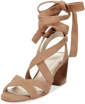 Kenneth Cole New York Victoria Lace-Up Block-Heel Sandals $130 thestylecure.com