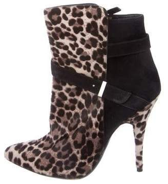 Tabitha Simmons Pointed-Toe Ponyhair Booties