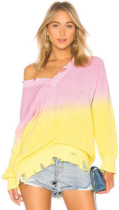 MSGM Tie Dye Ribbed Sweater