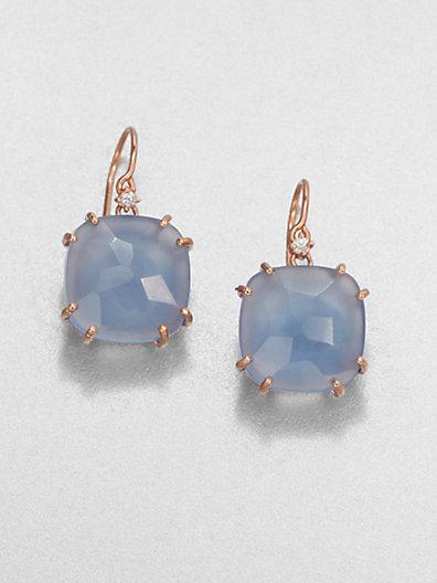 Suzanne Kalan KALAN by Blue Agate & 14K Rose Gold Drop Earrings