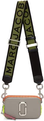 Marc Jacobs (マーク ジェイコブス) - Marc Jacobs グレー スモール ホイップステッチ Snapshot バッグ