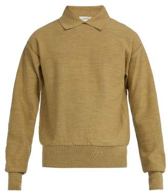 Lemaire Wool Knit Polo Sweater - Mens - Green