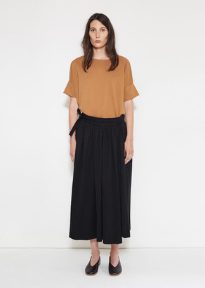 Lemaire Jersey Wrap Over Skirt $335 thestylecure.com