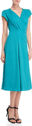 Romeo & Juliet Couture Romeo + Juliet Couture Solid Wrap Midi Dress