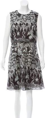 Marchesa Printed Silk Dress w/ Tags