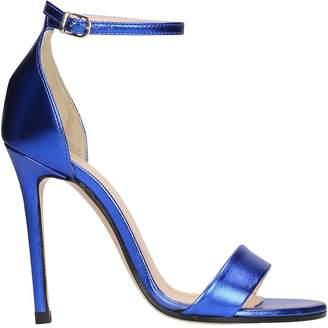 Marc Ellis Metal Blue Leather Sandals