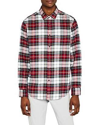 Meraki Men's Slim-Fit Long Sleeve Plaid Flannel Shirt