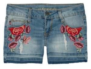 Vigoss Little Girl's Embroidered Denim Shorts