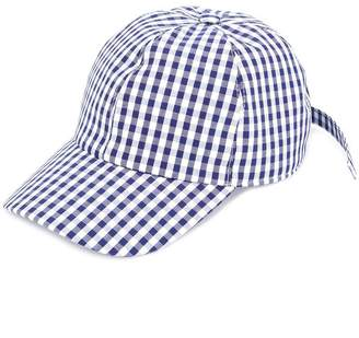 Federica Moretti gingham panelled cap