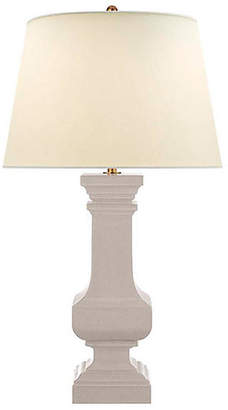 Visual Comfort & Co. Balustrade Square Table Lamp - Bone Craquelure