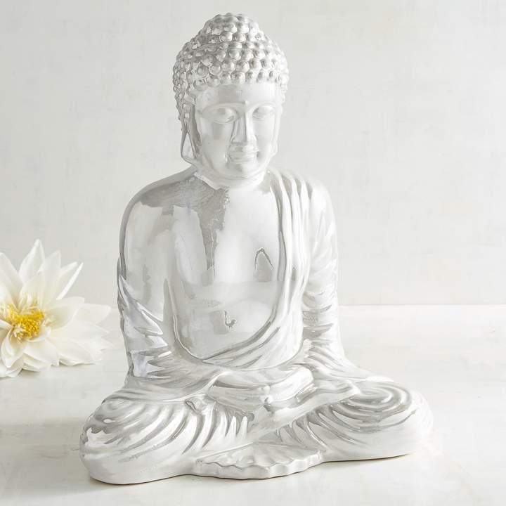 Pier 1 Imports Pearlized Ceramic Buddha