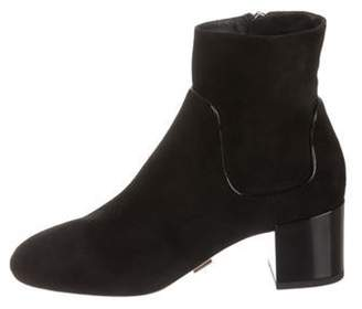 Michael Kors Suede Round-Toe Ankle Boots Black Suede Round-Toe Ankle Boots