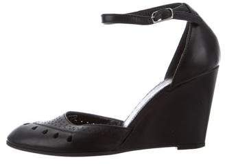 Marc Jacobs Collection Laser Cut Leather Wedges