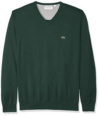 Lacoste Men's Long Sleeve Half Moon V Neck Jersey Sweater