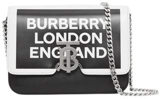 Burberry Small Logo Print Leather TB Bag