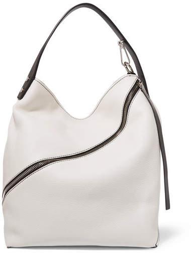 Proenza Schouler - Hobo Medium Textured-leather Shoulder Bag - White