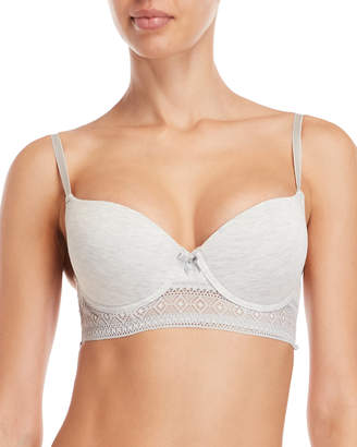 Rene Rofe Heather Grey Chill Out Longline Push-Up Bra