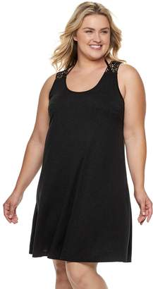 Apt. 9 Plus Size Crochet Back Tank Cover-Up