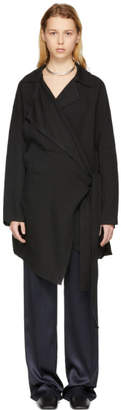 Acne Studios Black Aglaia Raw Coat