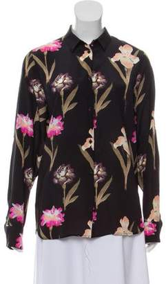 Rochas Floral Button-Up Top