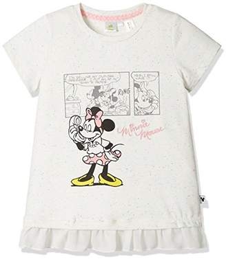 Disney (ディズニー) - [ディズニー] ミニー裾フリルTシャツ 332227046 ガールズ シロ 日本 100 (日本サイズ100 相当)