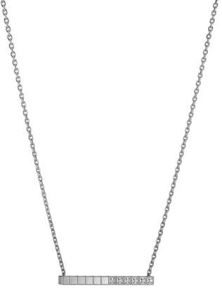 Chopard Ice Cube Diamond Bar Necklace in 18K White Gold