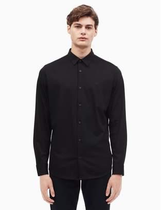 Calvin Klein knit logo button down shirt