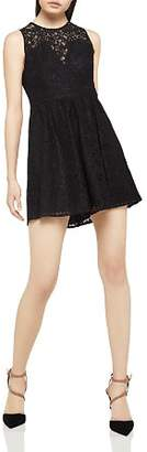 BCBGeneration Lace Fit-and-Flare Dress