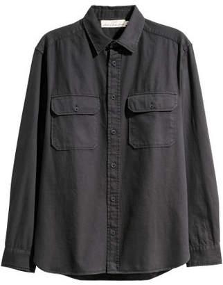 H&M Twill Utility Shirt - Black