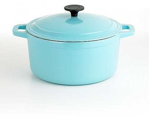 Martha Stewart Collection Blue Enameled Cast Iron Chili Pot, 5.5 Qt.