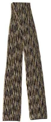 Missoni Metallic Knit Scarf