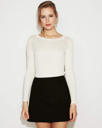 Express Petite High Waisted Clean A-Line Mini Skirt