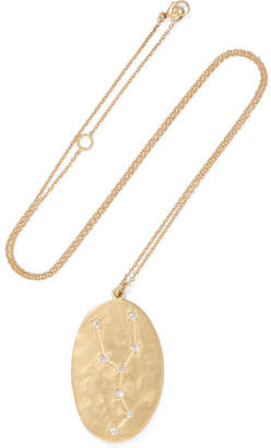 Brooke Gregson - Taurus 14-karat Gold Diamond Necklace